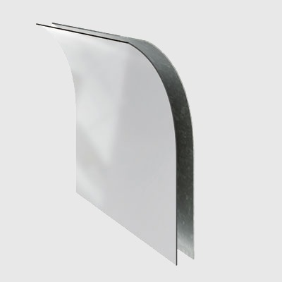 Single PolyVision a3 CeramicSteel Flexible Panel Sheet Bonded to an Aluminum Backer