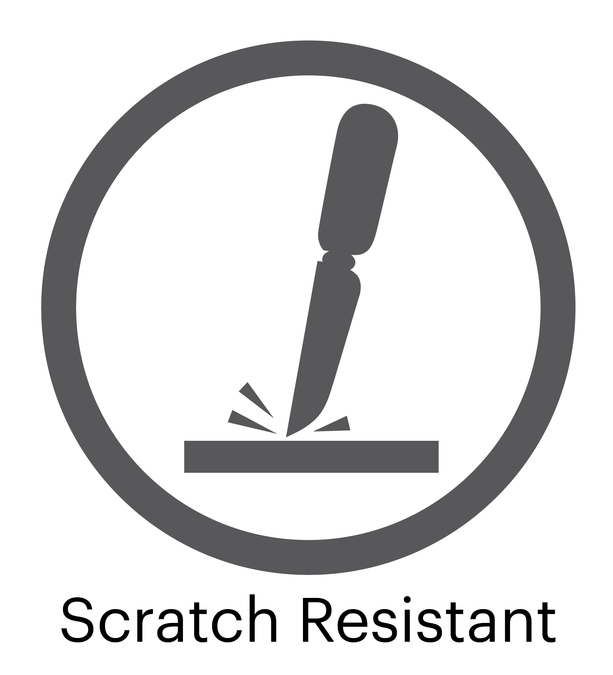 Scratch Resistant Surface Logo