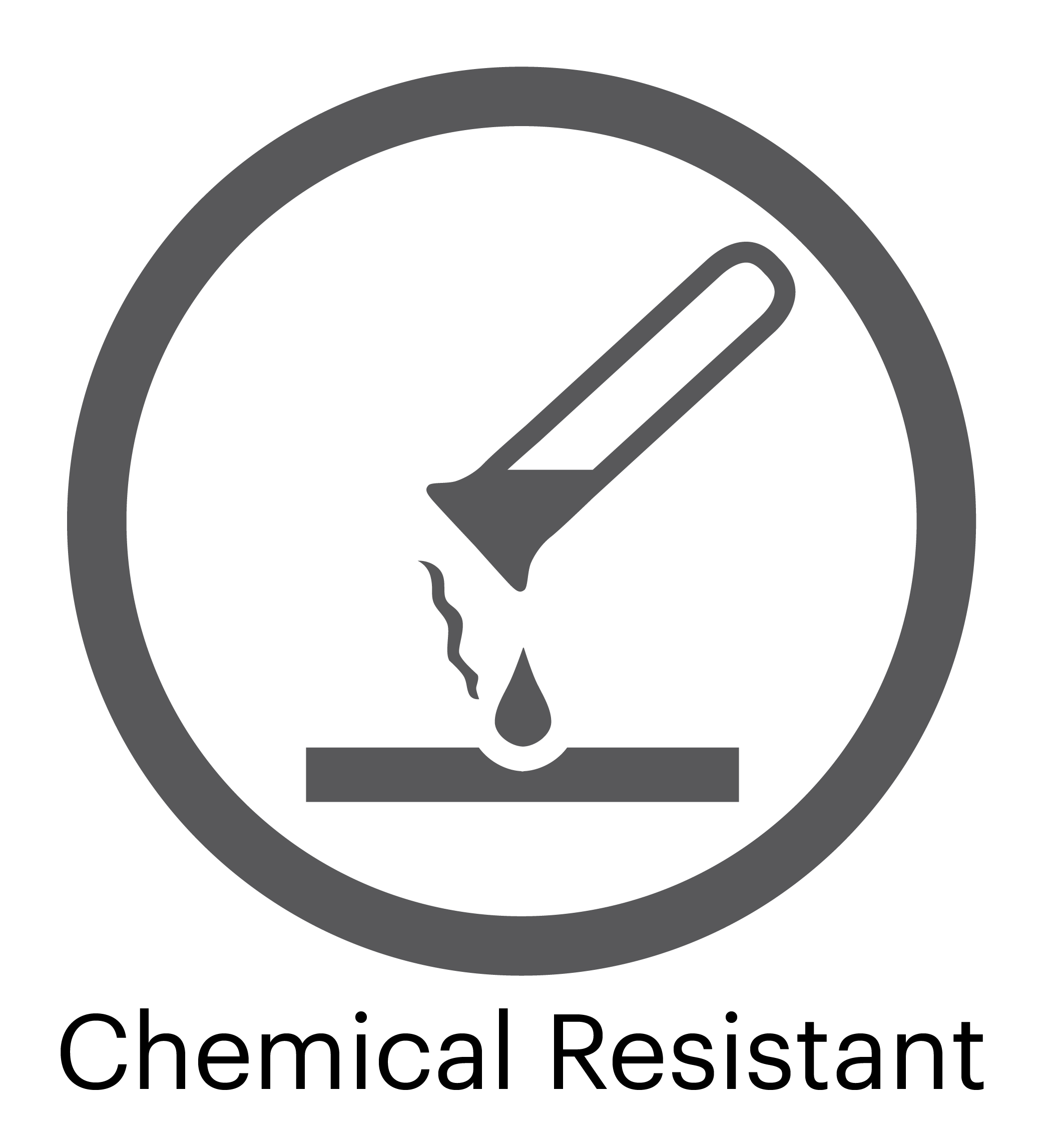 Chemical Resistant Surface Logo